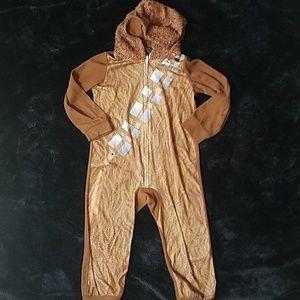 Star wars chewbacca kids onesie size 4/5